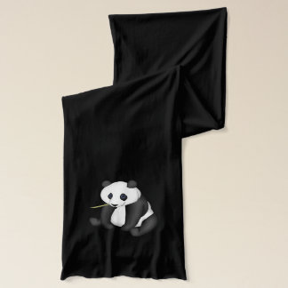 Panda Eating Bamboo Scarf