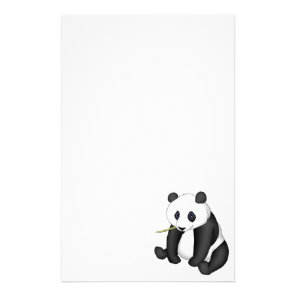 Panda Eating Bamboo Stationery