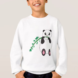 Panda Eating Bamboo Sweatshirt