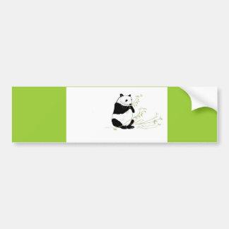 Panda Eating Bumper Stickers