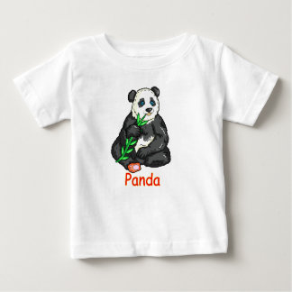 Panda eating  cane. baby T-Shirt