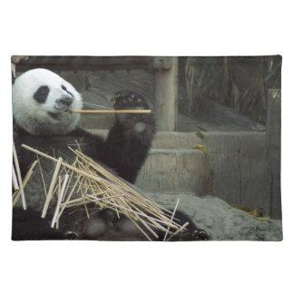 Panda eating placemat