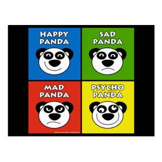 Panda Emotions Post Cards