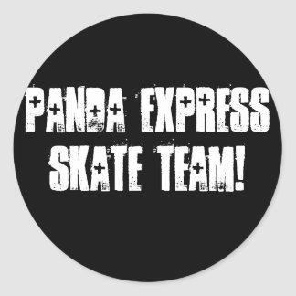 PANDA EXPRESS SKATE TEAM! CLASSIC ROUND STICKER