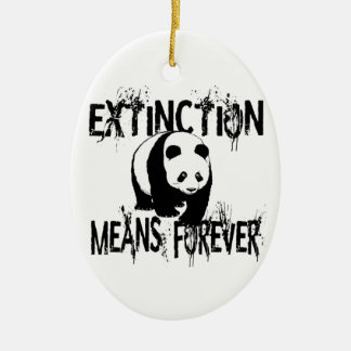 Panda Extinction1 Ceramic Oval Decoration