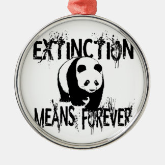Panda Extinction1 Christmas Ornament