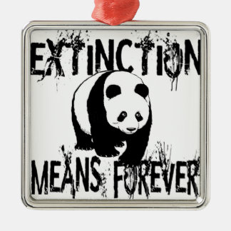 Panda Extinction1 Christmas Ornament
