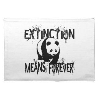Panda Extinction1 Placemat