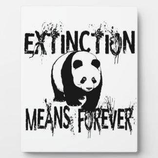 Panda Extinction1 Plaque