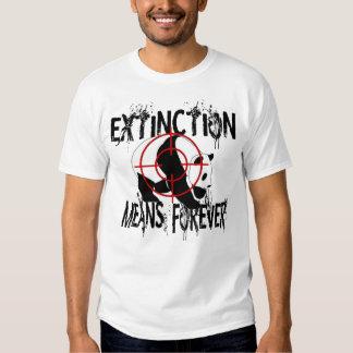 Panda Extinction2 Tee Shirts
