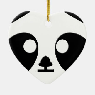 Panda Eyes Art Ceramic Heart Decoration