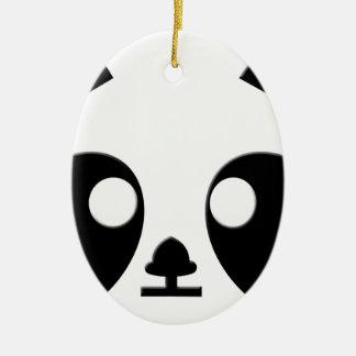 Panda Eyes Art Ceramic Oval Decoration