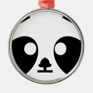 Panda Eyes Art Christmas Ornament