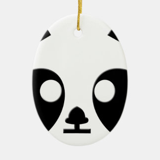 Panda Eyes Art Christmas Ornament