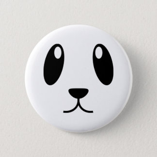 Panda Face 6 Cm Round Badge