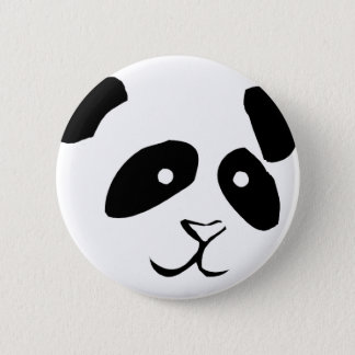 PANDA FACE 6 CM ROUND BADGE