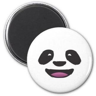 Panda face 6 cm round magnet