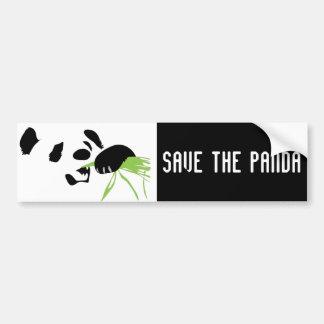 panda face bumper sticker