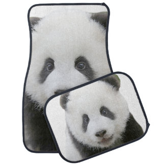 Panda Face Car Mat