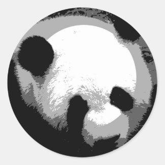 Panda Face Classic Round Sticker
