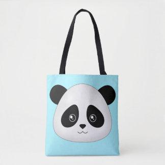 Panda Face Cute Kawaii Cartoon Animals Face Head Tote Bag
