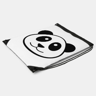 Panda Face Drawstring Bag