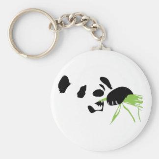 panda face basic round button key ring