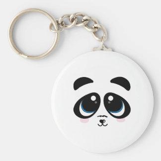 Panda Face Keychain