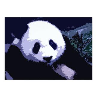 Panda Face Pop Art Invitation