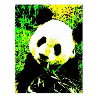 Panda Face Pop Art Postcards