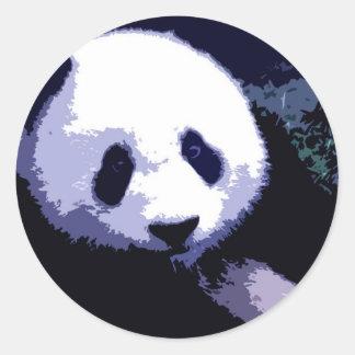 Panda Face Pop Art Round Stickers