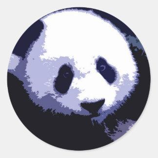 Panda Face Pop Art Stickers