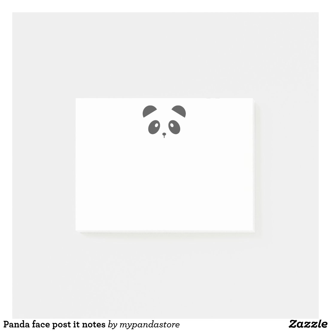 Panda face post it notes