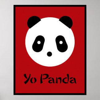 Panda Face Print