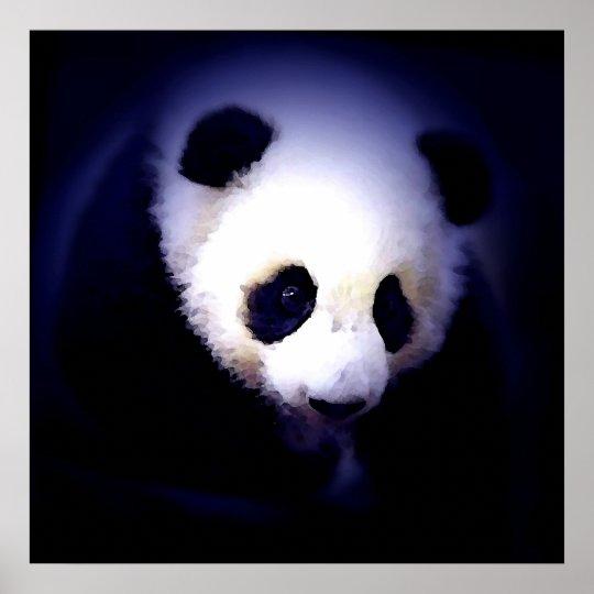 Panda Face Poster - Panda Posters Prints