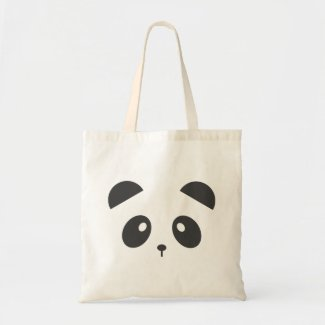 Panda Face Tote Bag