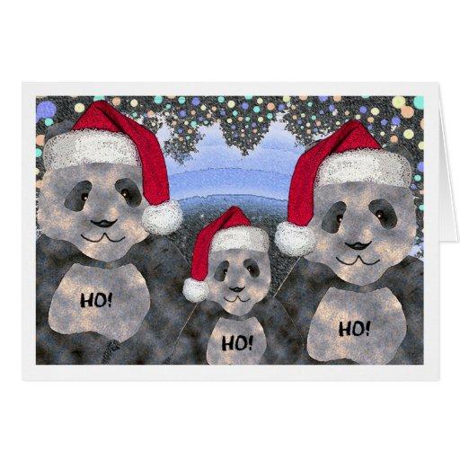 Panda Family Christmas Greeting Card