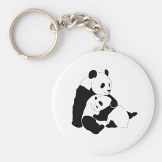 Panda Family Key Ring