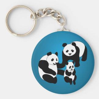 Panda Family of Three Key Chain
