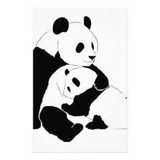 Panda Family Personalised Stationery