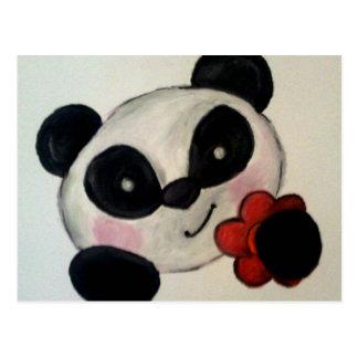 Panda Flower Postcard