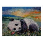 Panda Flowers Postcard