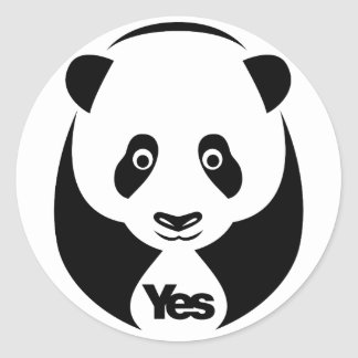 Panda For Yes Stickers