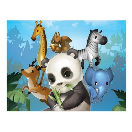 panda & friend postcard