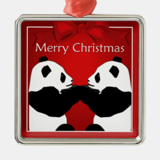 Panda Friends  Christmas Premium Ornament