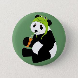 Panda Frog Hat 6 Cm Round Badge