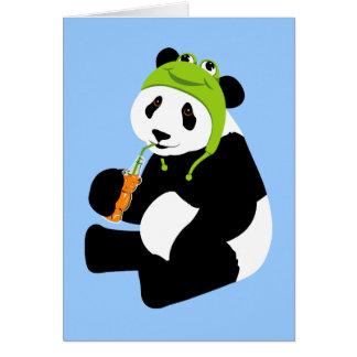 Panda Frog Hat (birthday) Card