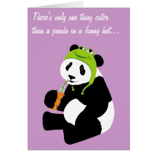Panda Frog Hat (birthday) Card