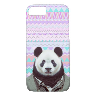 Panda Funny with Pastel Tribal iPhone 7 Case