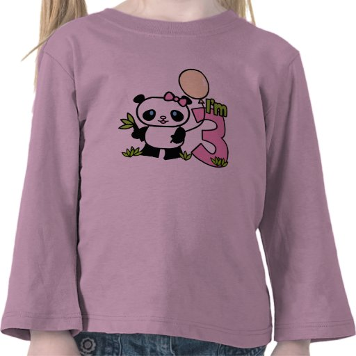 Panda Girl 3rd Birthday Shirt